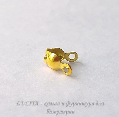 Каллоты 8х4 мм (цвет - золото), 20 штук ()