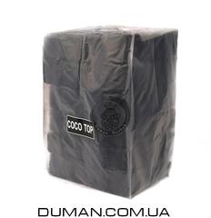 Натуральный кокосовый уголь CocoTop для кальяна | 1кг 72куб 25*25мм