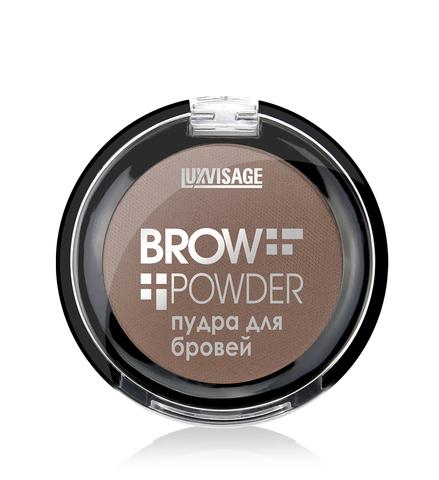 LuxVisage Пудра для бровей  Brow powder тон 2 (soft brown) 1.7г