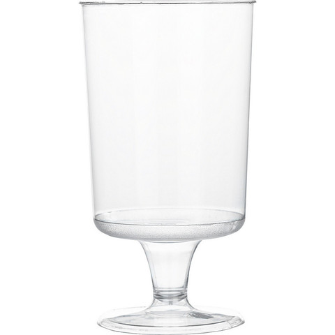 Бокал одноразовый для вина Эконом пластиковый прозрачный 170 мл 6 штук в упаковке