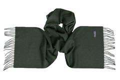 Шерстяной шарф, мужской темно-зеленый 16904