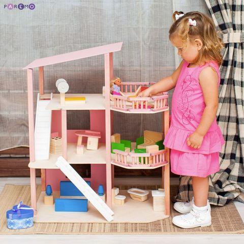 """Кукольный домик """"Коралловый риф"""" с мебелью 21 предмет"""