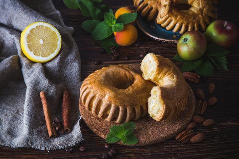 Подковка с с кремом и лимоном,100 г.(вл.45)