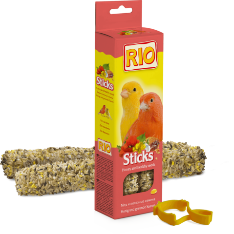 RIO - Палочки для канареек с медом и полезными семенами