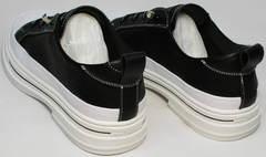 Удобные женские туфли полуспортивные El Passo sy9002-2 Sport Black-White.