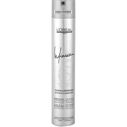 Лак для волос, L'Oreal Professionnel Infinium Pure Strong, 500 мл.