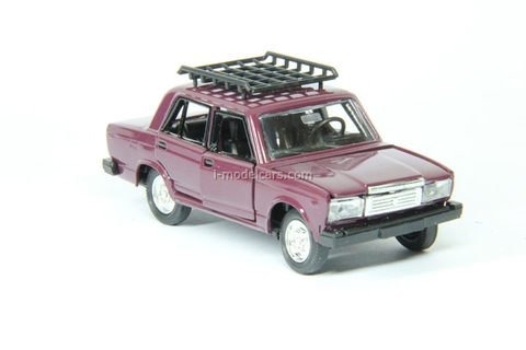 VAZ-2107 Lada with roof rack darkred Agat Mossar Tantal 1:43