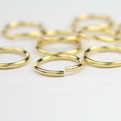 Колечко одинарное TierraCast 9,7х1 мм (цвет-золото), 10 штук