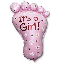 Фигурный шарик из фольги Ступня-Девочки