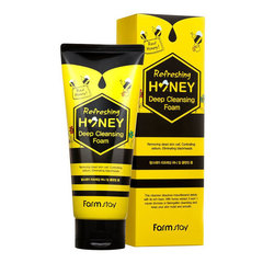 FarmStay Refreshing Honey Deep Cleansing Foam - Очищающая пенка с медом