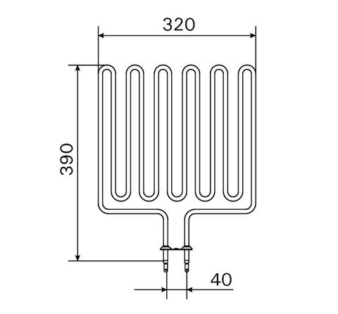 ТЭН Harvia - тэн харвия 2500W ZSL-314 (ZSL314) L=3856mm - нагревательный элемент для печи сауны, см. HTS001HR