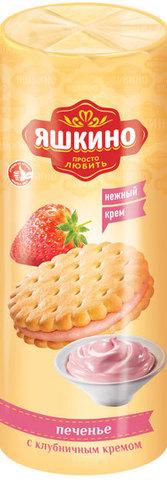 """Печенье """"Яшкино"""" затяжное с клубничным кремом, 182 г"""