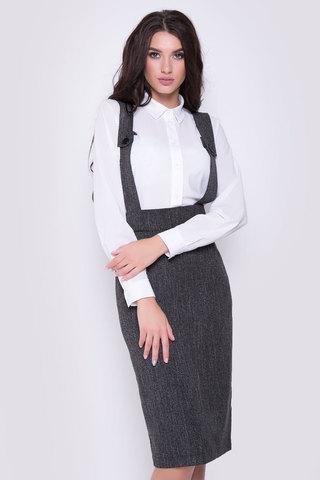 <p>Хит сезона!!! Классическая офисная юбка - карандаш с завышенной талией на лямках.(Длина: 44,46,48 = 63см; 50=64см; 52=65см;)</p>