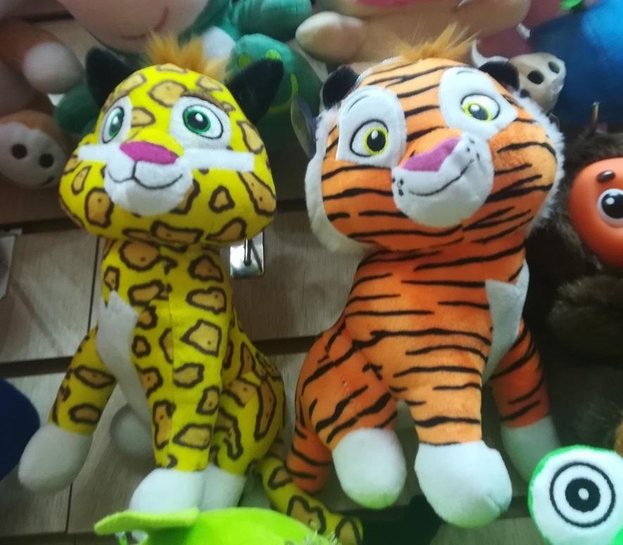 Лео и Тиг мягкие игрушки 25 см