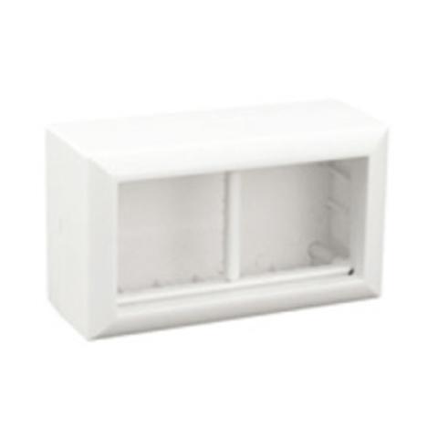 SM45/4 Коробка для открытой проводки на 2 поста 45х45 мм. Цвет Белый. Ecoplast (ЭКОПЛАСТ). 72944