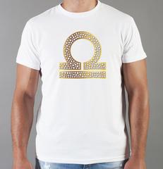 Футболка с принтом Знаки Зодиака, Весы (Гороскоп, horoscope) белая 0013