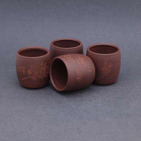 Чайник с чашками из исинской глины