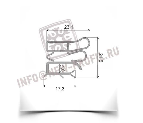 Уплотнитель для холодильника Pozis (Позис) Свияга 157 (холодильная камера)Размер 74*56см профиль 012