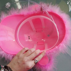 Каска с подставкой под банки Розовая, фото 2