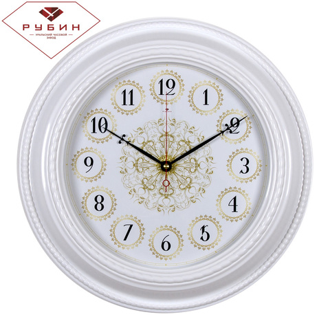 5232-101 (5) Часы настенные круг d=45,5см, корпус белый