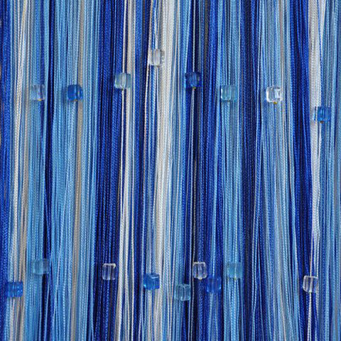 Радуга со стеклярусом Белая, голубая, синяя. Ш-300см., В-280см. Арт.1-11-208