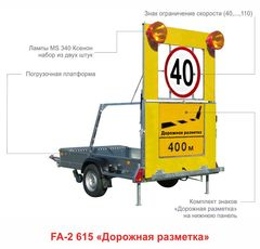 Передвижные заградительные знаки для дорожной разметки