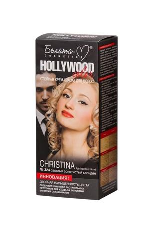 Белита-М Hollywood Color Крем краска 324 Christina Светлый золотистый блондин