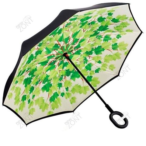 Перевернутый зонт наоборот кленовые листья механика