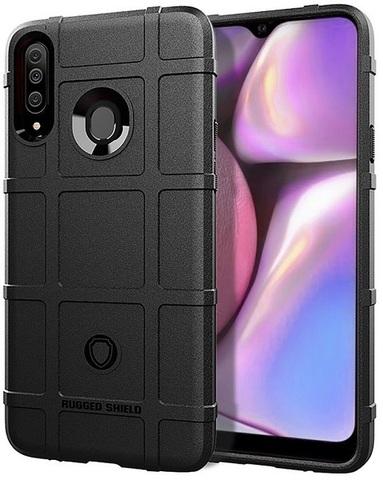Чехол Samsung Galaxy A20S цвет Black (черный), серия Armor, Caseport