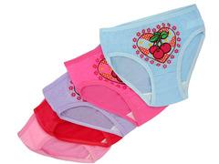 W1079 трусы для девочек, цветные (10шт)