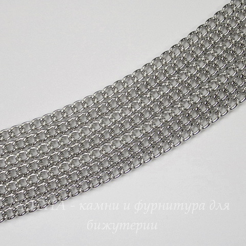 Цепь (цвет - платина) 3,5х2,8 мм, примерно 2 м