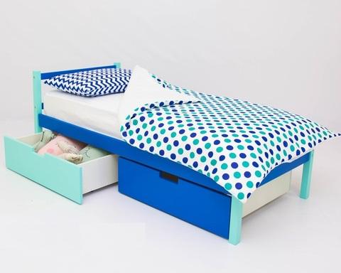 Кровать SKOGEN мятно-синий
