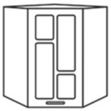 Кухня «Техно» шкаф верхний ШВУС550х550