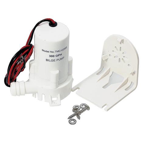 Насос центробежный осушительный с монтажным кронштейном 300 GPH, 12 В