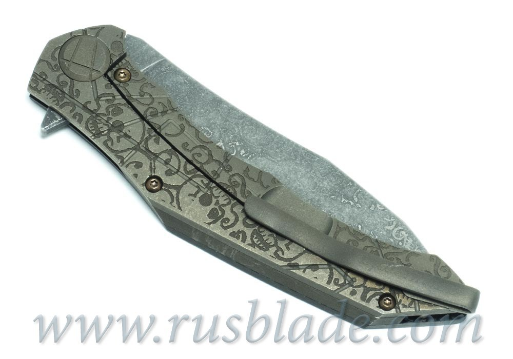 CKF Asymmetric Skull CUSTOM (Alexey Konygin design, S90V, titanium, CF)