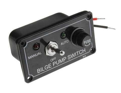 Панель управления водооткачивающей помпой auto-off-manual (без фиксации)