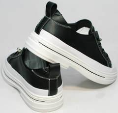 Красивые женские кроссовки туфли женские на низком ходу El Passo sy9002-2 Sport Black-White.