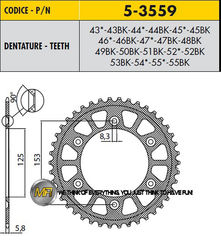 Звезда задняя ведомая Sunstar Rear Sproket 5-3559-50 для мотоцикла Honda
