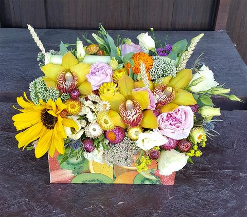 Ящик с цветами Погода яркая