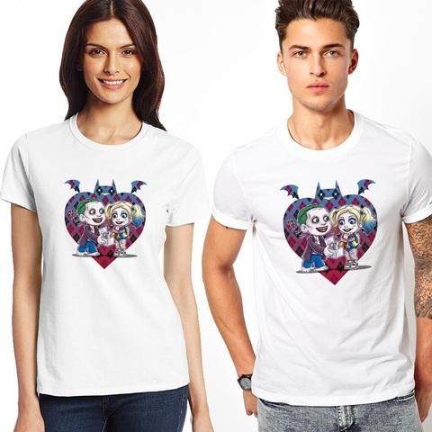 Футболка Джокер и Харли Квинн — Love is
