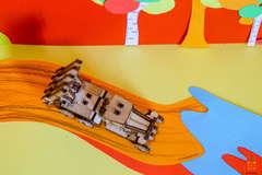 Катюша UNIT (UNIWOOD) - Деревянный конструктор, 3D пазл, сборная модель