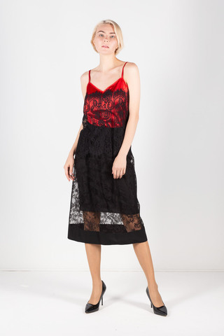 Фото вечерняя шелковая юбка расклешенного силуэта с кружевом - Юбка Б112-216 (1)