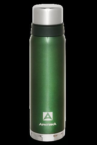 Термос Арктика (0,9 литра) с узким горлом американский дизайн, зелёный