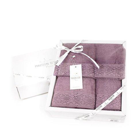 Набор полотенец  NATURAL - НАТУРАЛ 3пр 30х50 50х90 и 70х140 Maison Dor (Турция)