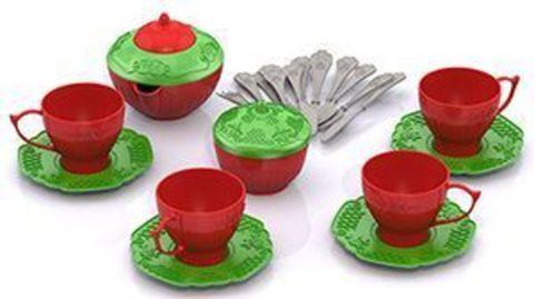 Набор посудки 24пр Чайный сервиз в сетке Волшебная Хозяюшка/620