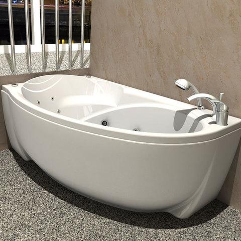 Ванна акриловая Aquatek Бетта170х97см. на каркасе и сливом-переливом левая/правая