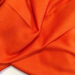 Кашемировый однотонный оранжевый палантин (4) фото 2