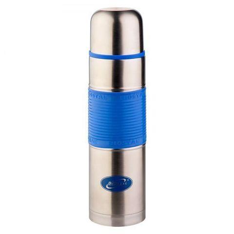 Термос Biostal Flër (0,75 литра) с силиконовой вставкой, голубой