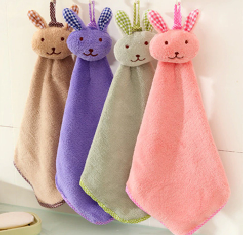 Детское полотенце для рук цвет: розовый