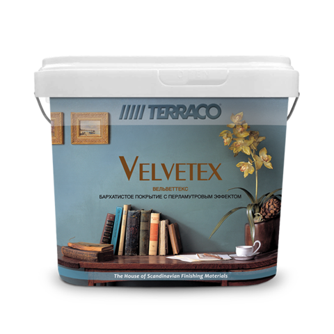 Terraco Velvetex Shimmer/Террако Вельветекс Шиммер декоративное блестящее покрытие с эффектом наполнения мелким бисером